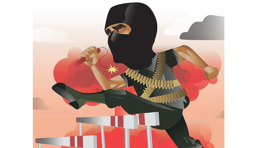 Race for Worst Terrorist Group Illustration by Linas Garsys/The Washington Times
