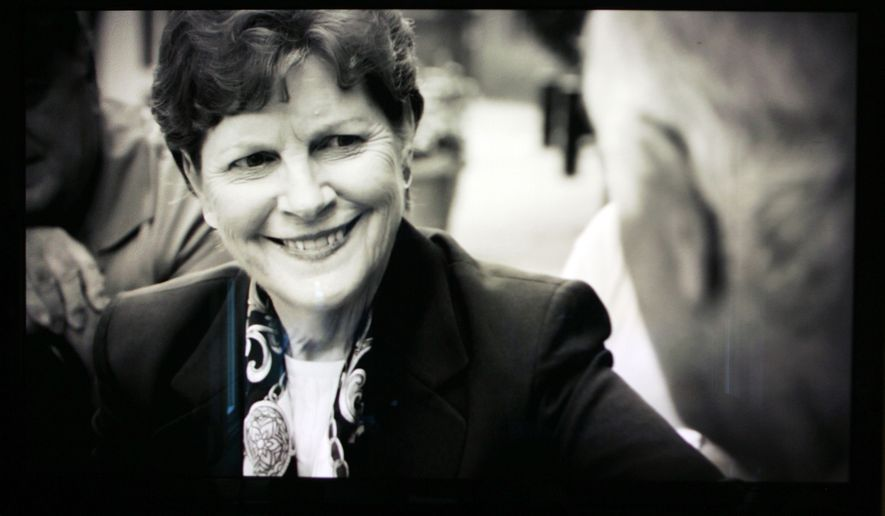 In this Friday, Aug. 29, 2014 photo from a television monitor  in Concord, N.H., U.S. Sen. Jeanne Shaheen, D-N.H. is seen in one of her television commercials.  The Democratic Party has been focusing much of its firepower on Brown and Walt Havenstein, one of the Republicans hoping to face Gov. Maggie Hassan, while paying little heed to Smith, Rubens or Havenstein's opponent, Andrew Hemingway.(AP Photo/Jim Cole)