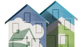 Illustration on selling Freddie Mac and Fannie Mae by Alexander Hunter/The Washington Times
