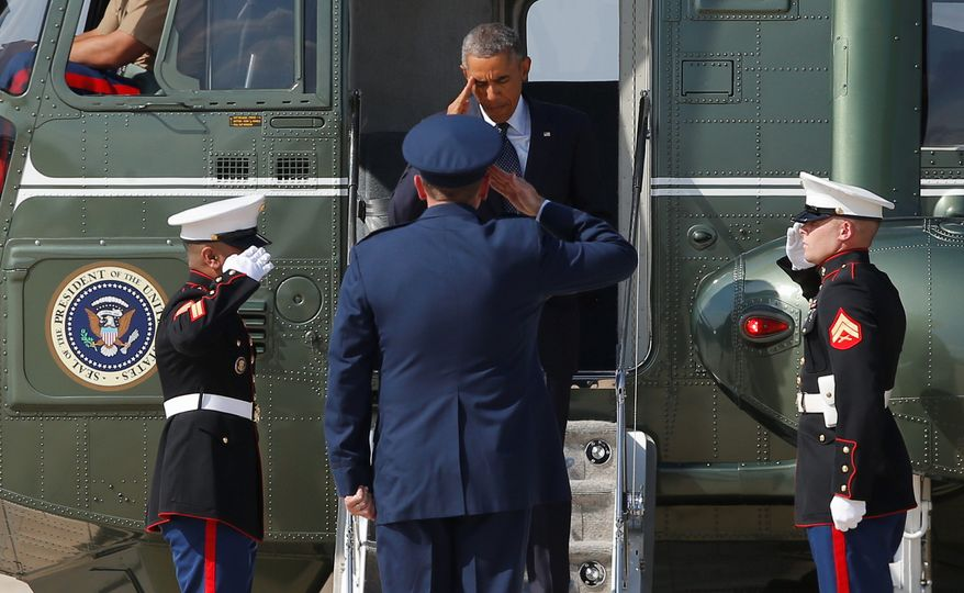 President Obama traveled last year to Estonia, where he tried to reassure NATO members of the alliance's promise to defend against Russian aggression under President Vladimir Putin. (Associated Press)