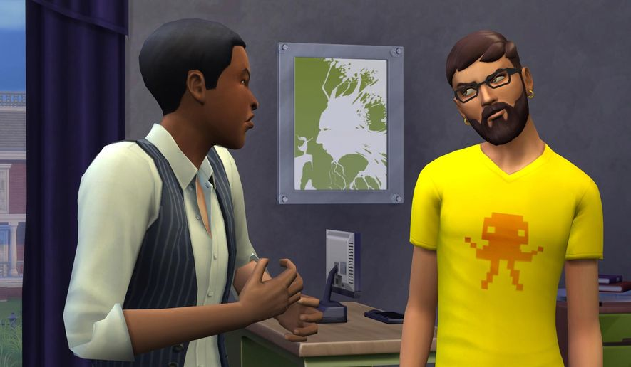 """This undated publicity photo released by Electronic Arts/Maxis shows the video game, """"The Sims 4."""" Unlike their predecessors, this breed of more emotional Sims are able to multitask and achieve multiple personal aspirations, ranging from finding a soul mate to becoming a best-selling author. When aspirations are achieved or whims are fulfilled, Sims are now granted points for much-needed rewards, like the ability to skip meals or get promoted at work. (AP Photo/Electronic Arts/Maxis, file)"""