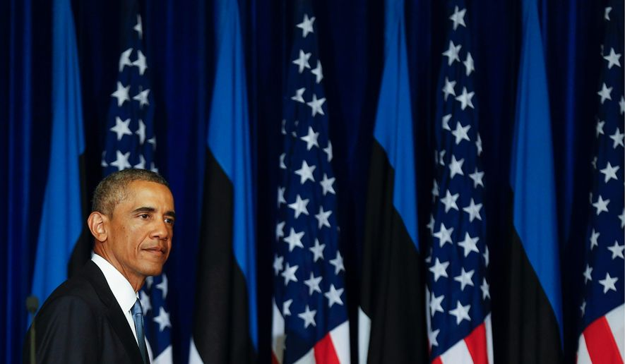 President Obama spoke in Estonia about the need for NATO to defend its member states, many of whom are wary of Russian incursions similar to what has occurred in the Ukrainian theater. (Associated Press)