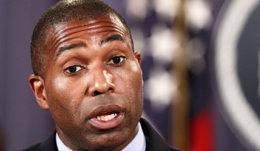 **FILE** Assistant Attorney General for the Civil Division for the Justice Department Tony West speaks during a news conference at the Justice Department in Washington on Sept. 1, 2010. (Associated Press)