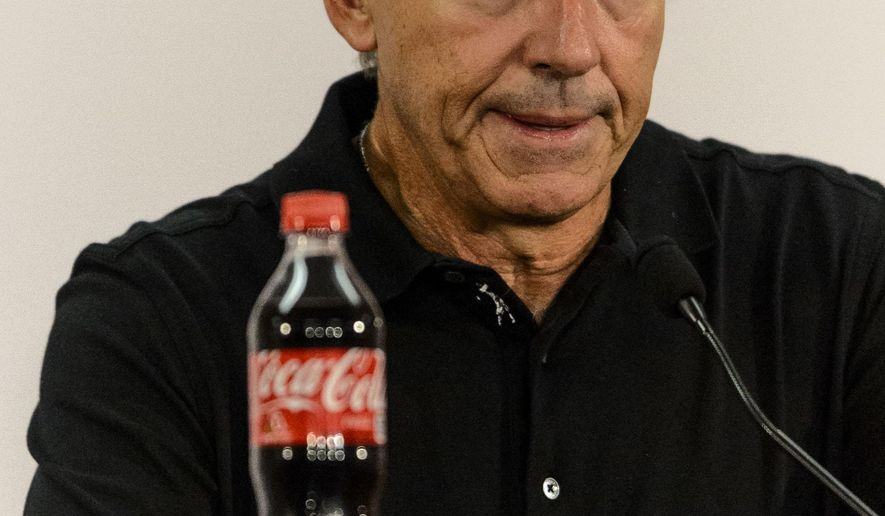 Alabama NCAA college football head coach Nick Saban talks with the media, Monday, Sept. 1, 2014, in Tuscaloosa, Ala. (AP Photo/Alabama Media Group, Vasha Hunt) MAGS OUT