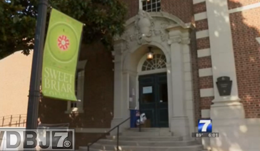 """Students at Sweet Briar College were appalled to find """"White Only"""" and """"Colored"""" signs hanging around a women's dormitory. The school's president issued a gravely worded statement about the incident. (WDBJ 7)"""