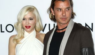 "FILE - In this June 4, 2013 file photo, Gavin Rossdale, right, and Gwen Stefani arrive at the LA premiere of ""The Bling Ring"" in Los Angeles.  Stefani is a panelist on the singing competition series, ""The Voice."" Rossdale was the ""coach"" brought in to give advice to members of Stefani's team of aspiring singers, which starts its new season on Sept. 22. Rossdale was the lead singer of the British rock band Bush. (Photo by Matt Sayles/Invision/AP, File)"