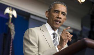 President Obama says Ebola may be a longer-term U.S. threat. (AP Photo/Evan Vucci, File)