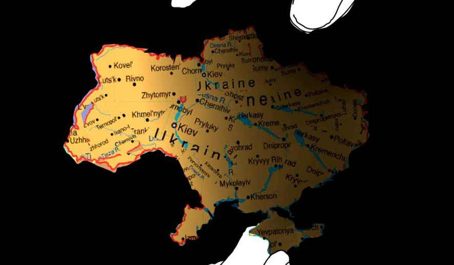 Illustration on Russia's incursion into Ukraine by Nancy Ohanian/Tribune Content Agency