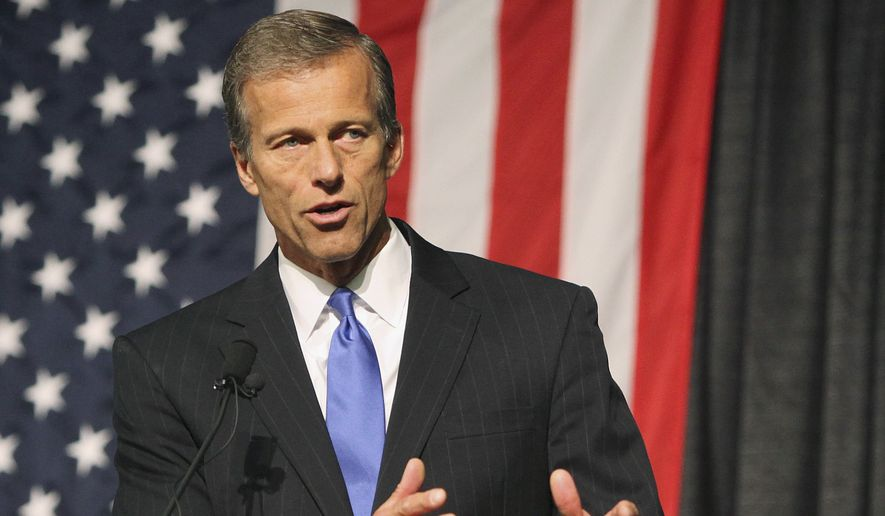 Sen. John Thune, of South Dakota, speaks at the South Dakota Republican Convention in Rapid City, S.D., in this June 20, 2014, file photo. (AP Photo/Toby Brusseau, File)