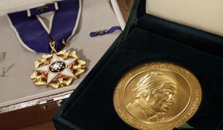 The Presidential Medal of Freedom is the nation's highest civilian honor. (AP)