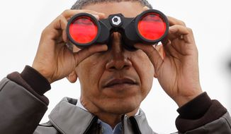President Obama might need binoculars to find Senate Democrats after Nov. 4.