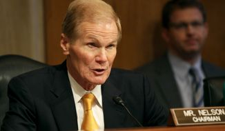 Senate Aging Committee Chairman Sen. Bill Nelson, D-Fla. speaks on Capitol Hill in Washington, Wednesday, Sept. 10, 2014, during the committee's hearing to examine older Americans and student loan debt. (AP Photo/Lauren Victoria Burke)