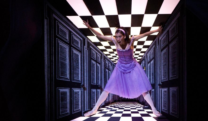 """In this June 4, 2011 photo made available by Richard Kornberg & Associates, Sonia Rodriguez performs during a dress rehearsal of """"Alice's Adventures in Wonderland"""" in London, Ontario, Canada. The show is scheduled to run from Sept. 9 - 14, 2014 at the David H. Koch Theater at Lincoln Center in New York, presented by the The Joyce Theater. (AP Photo/Aleksandar Antonijevic)"""