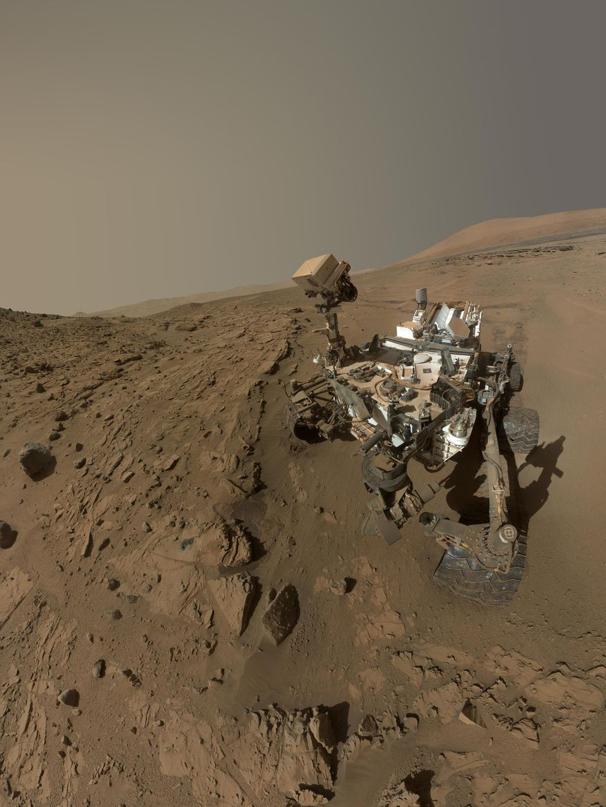 This file photo released on June 23, 2014, by NASA, shows NASA's Curiosity Mars rover self-portrait. (AP Photo/NASA, JPL-Caltech, MSSS, File) ** FILE **
