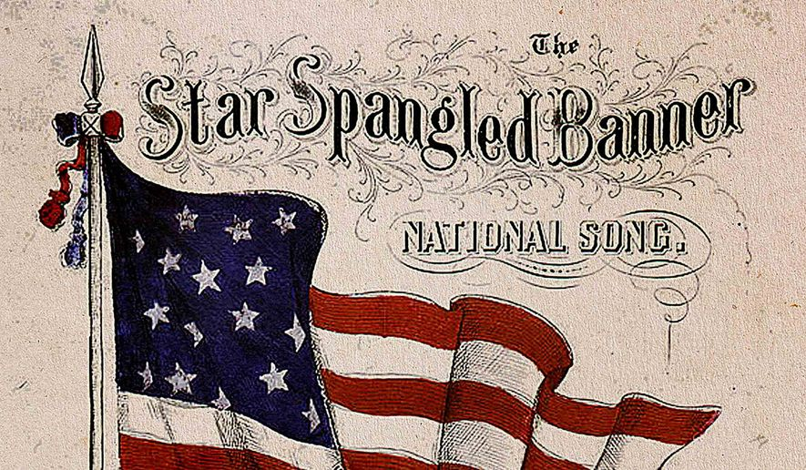 Vintage sheet music cover page of The Star Spangled Banner