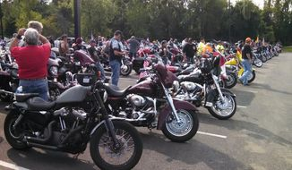Thousands of bikers assembled in Fort Washington for a ride into the District in remembrance of the Sept. 11 terror attacks (Photo courtesy of Prince George's County Police Department)