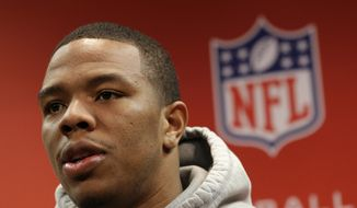 Former Baltimore Ravens running back Ray Rice. (AP Photo/Patrick Semansky, File)