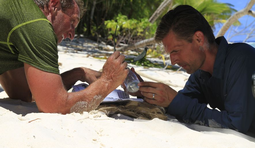 Two rival U.S. senators spend a week on a deserted island, courtesy of the Discovery Channel. (Photo from Discovery Channel)
