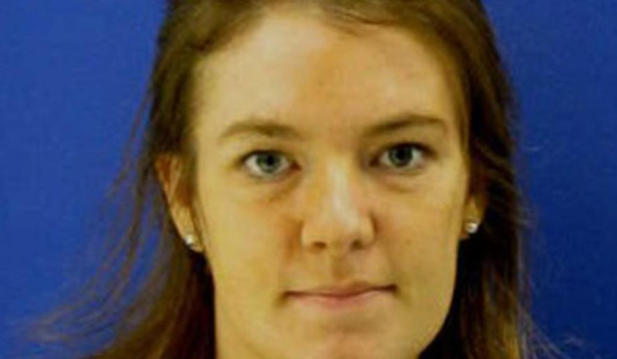 This undated handout image provided by the Montgomery County, Md., Police Department, shows Catherine Hoggle, 27, of Clarksburg. Police are looking her two missing children, 3-year-old Sarah Hoggle and 2-year-old Jacob Hoggle. (AP Photo/Montgomery County, Md., Police Department)