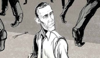 Illustration on Obama's fecklessness in war by Paul Tong/Tribune Content Agency