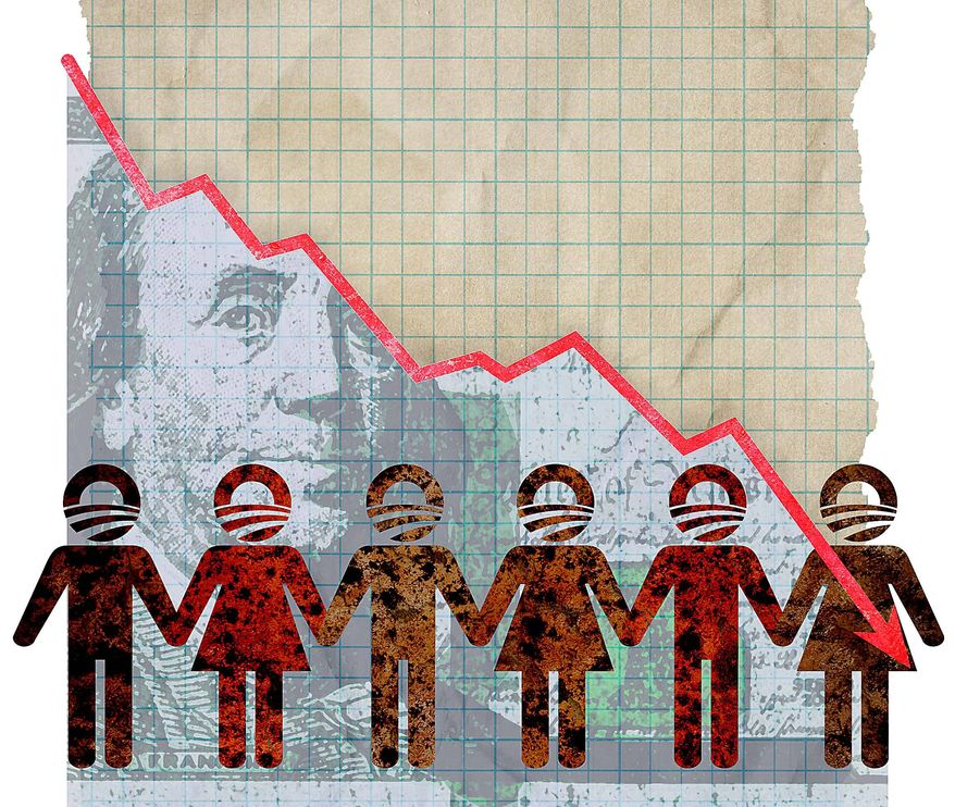 Voters Victim of Obama Policy Illustration by Greg Groesch/The Washington Times