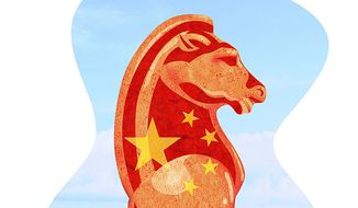 China Seas Chess Game Illustration by Greg Groesch/The Washington Times