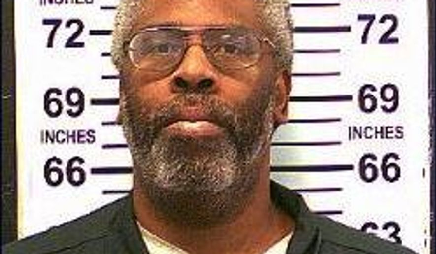 In this Feb. 10, 2104 photo provided by the New York State Department of Corrections and Community Supervision, Kendall Francois is shown. Prison officials said that Francois died of natural causes on Thursday, Sept. 11, 2014. He was 43 years old. Francois was serving life in prison without the possibility of parole for strangling eight women during a killing spree in the 1980's. (AP Photo/New York State Department of Corrections and Community Supervision)