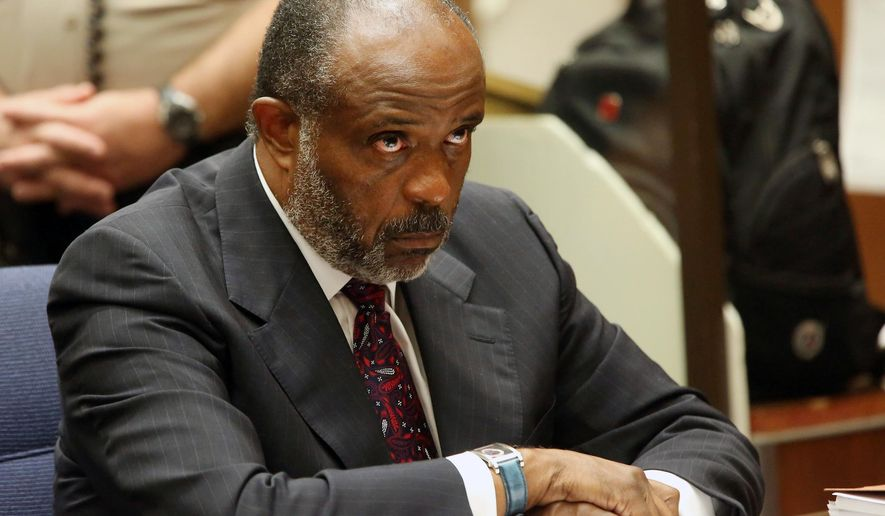 California state Sen. Rod Wright appears at a Los Angeles Courthouse on Friday, Sept. 12, 2014 during a sentencing hearing. Wright has been sentenced to 90 days in jail for lying about residence. (AP Photo/Nick Ut,File)
