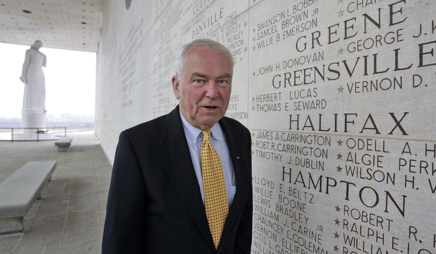 """This Friday, March 13, 2009 photo, former Navy fighter pilot and Vietnam POW Paul Galanti, as he poses at the Virginia War Memorial  in Richmond, Va. Galanti, who spent nearly seven years in North Vietnam's infamous """"Hanoi Hilton"""" prison, has resigned his post as Commissioner of the Virginia Department of Veterans Services.  (AP Photo/Steve Helber)"""