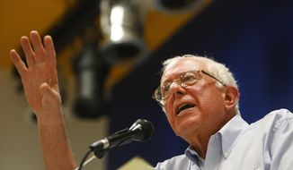 Sen. Bernie Sanders (I-Vt.) speaks to a crowd during a town hall meeting at Clarke University, in Dubuque, Iowa, on Saturday, Sept. 13, 2014. (AP Photo/The Telegraph Herald, Mike Burley) ** FILE **