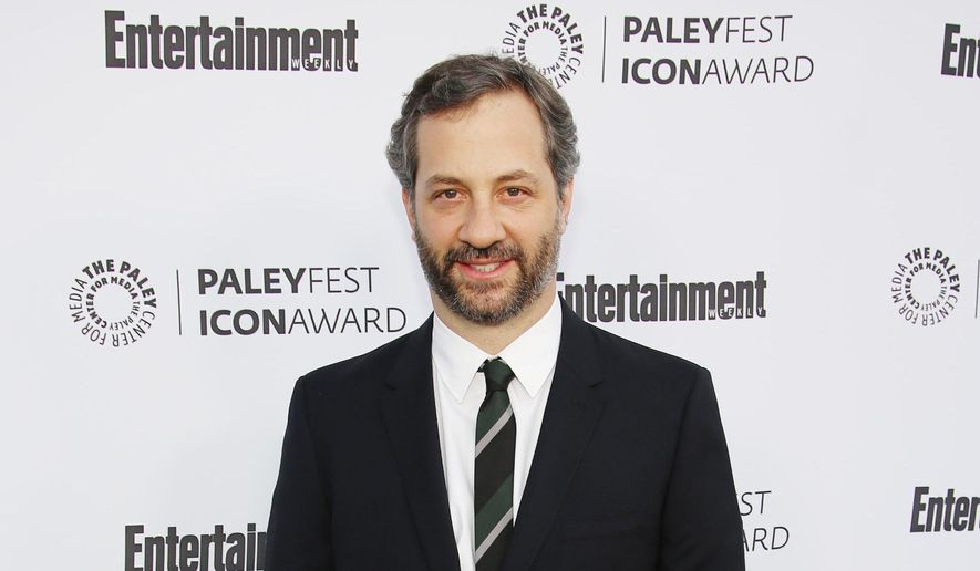 """In this March 10, 2014 file photo, Judd Apatow, 2014 PaleyFest Icon Award recipient, arrives at 2014 PaleyFest Icon Award celebration at The Paley Center for Media, in Beverly Hills, Calif. Netflix says the filmmaker Apatow is co-creating a new series that will take a comic look at modern relationships. Netflix said Tuesday, Sept. 16, 2014, it has made a two-season commitment to the series, titled """"Love."""" (Photo by Annie I. Bang/Invision/AP, file)"""