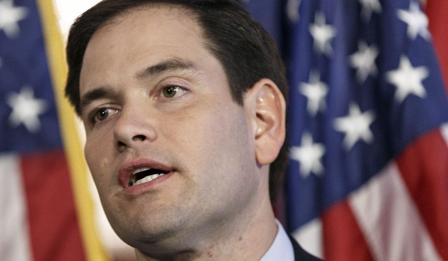 Sen. Marco Rubio, Florida Republican, speaks on Capitol Hill in Washington on Jan. 8, 2014. (Associated Press) **FILE**