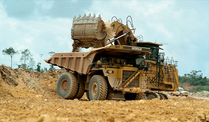 Mining activities in the interior of Suriname