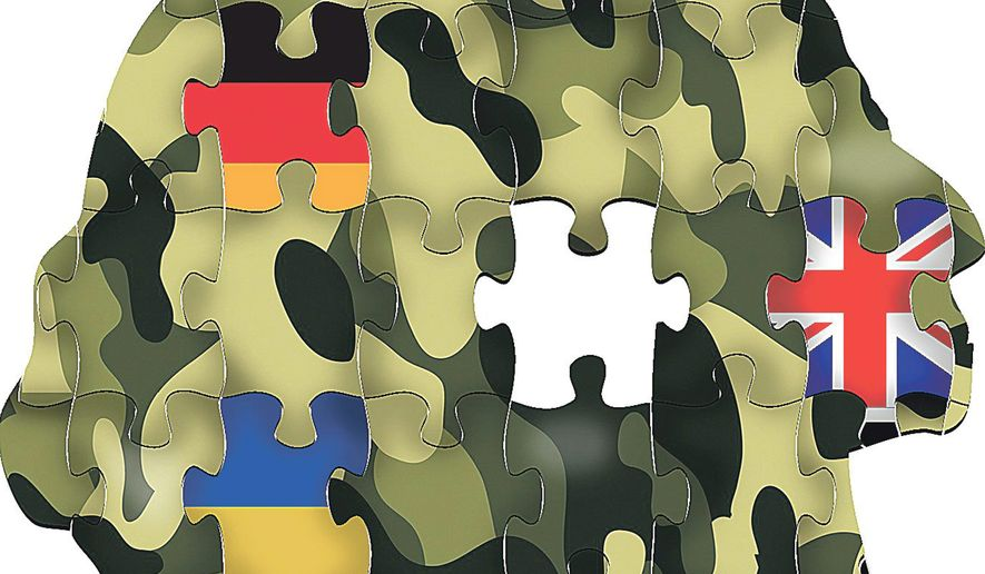Illustration on challenges building a coalition against ISLAMIC STATE by Linas Garsys/The Washington Times