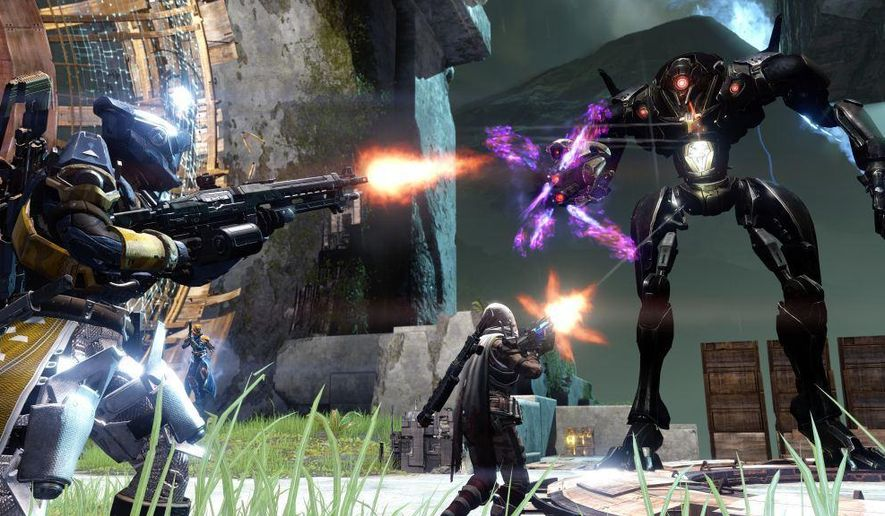 """In this video game image released by Activision, a scene is shown from """"Destiny."""" (AP Photo/Activision)"""