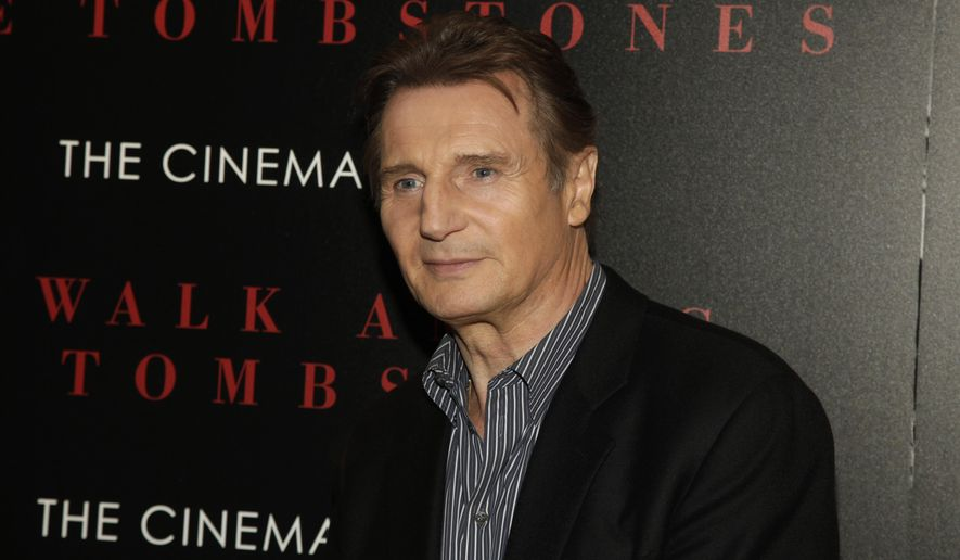 """Liam Neeson attends a screening of """"A Walk Among The Tombstones"""" on Wednesday, Sept. 17, 2014 in New York. (Photo by Andy Kropa/Invision/AP)"""
