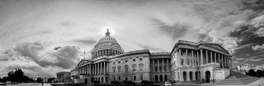 Panoramic photo composite of the U.S. Capitol Building, Washington, D.C., Thursday, September 18, 2014. (Andrew Harnik/The Washington Times)