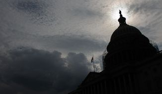 Scaffolding continues to go up on the dome of the U.S. Capitol Building, Washington, D.C., Thursday, September 18, 2014. (Andrew Harnik/The Washington Times)