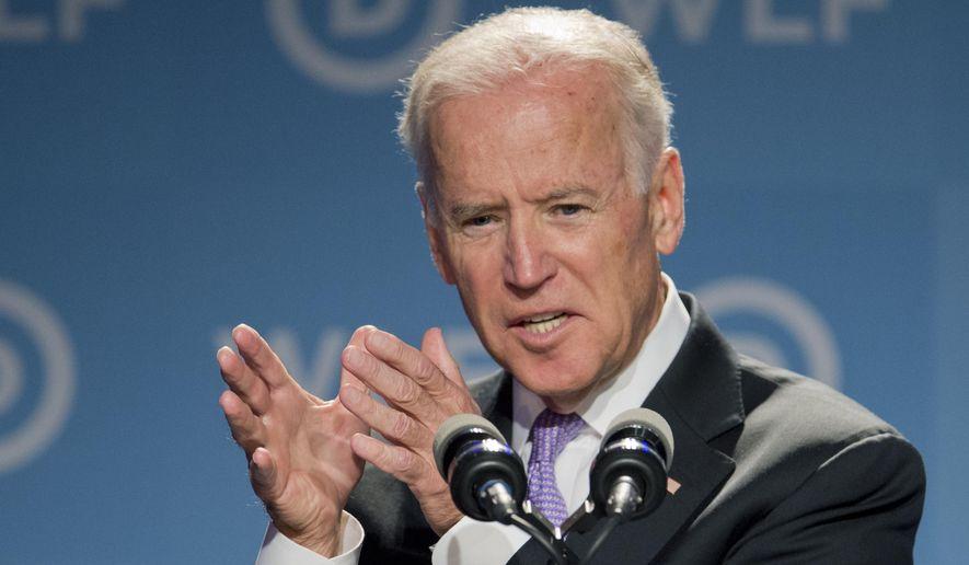 Vice President Joe Biden, speaks at the DNC Women's Leadership Forum in Washington, Friday, Sept. 19, 2014. (AP Photo/Manuel Balce Ceneta)