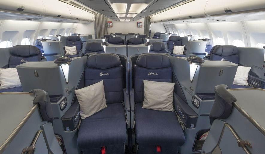 Air Berlin's 1-2-1 seating configuration means each seat is an aisle seat. (Photo/Air Berlin Group)