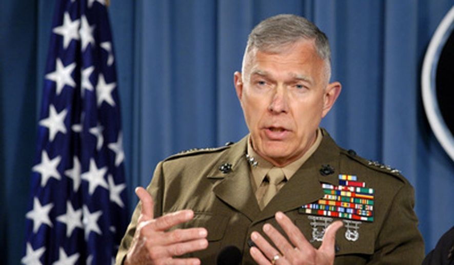 Former Director for Operations Lt. Gen. James T. Conway, U.S. Marine Corps, May 5, 2005. (Department of Defense) ** FILE **