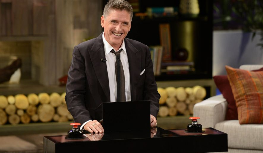 """This undated photo provided by FremantleMedia North America & Debmar-Mercury shows host Craig Ferguson on """"Celebrity Name Game."""" The game show, produced by Courtney Cox and David Arquette, debuts Monday, Sept. 22, 2014, in syndication. (AP Photo/FremantleMedia North America & Debmar-Mercury, Michael Becker)"""