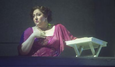 "Soprano Christine Goerke sings the lead role in WNO's ""Florencia in the Amazon."" Photo by Scott Suchman"