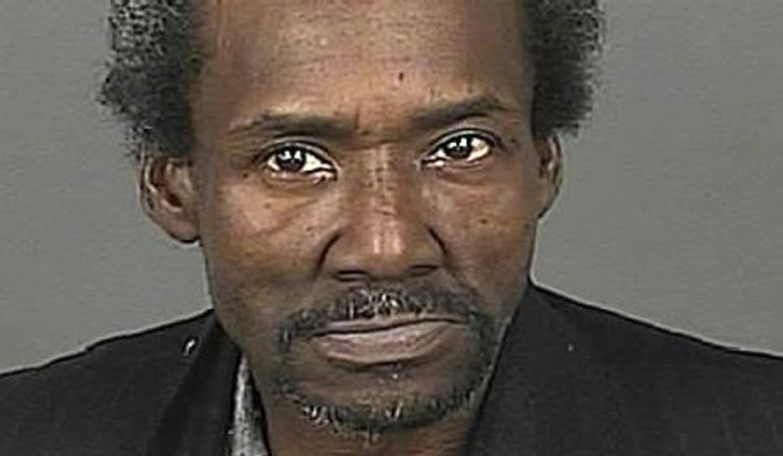 This undated photo provided by the Denver Department of Safety shows Marvin Booker, a homeless Denver street preacher. Jury selection gets underway Monday, Sept. 22, 2014, in the civil trial for five Denver sheriff's deputies accused of causing the 2010 death of Booker in the downtown jail. Booker died after deputies shocked him with a Taser after he was handcuffed, put him in a sleeper hold and lay on top of him. (AP Photo/Denver Department of Safety)