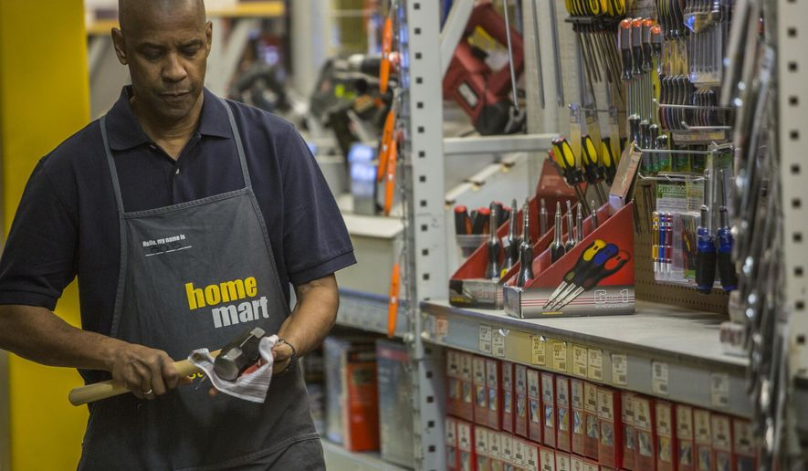 """In this image released by Columbia Pictures, Denzel Washington appears in a scene from """"The Equalizer."""" (AP Photo/Sony, Columbia Pictures, Scott Garfield)"""