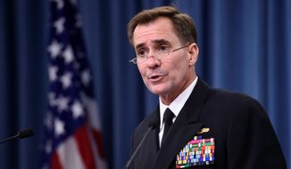 Pentagon spokesman Rear Adm. John Kirby. (AP Photo/Susan Walsh) ** FILE **