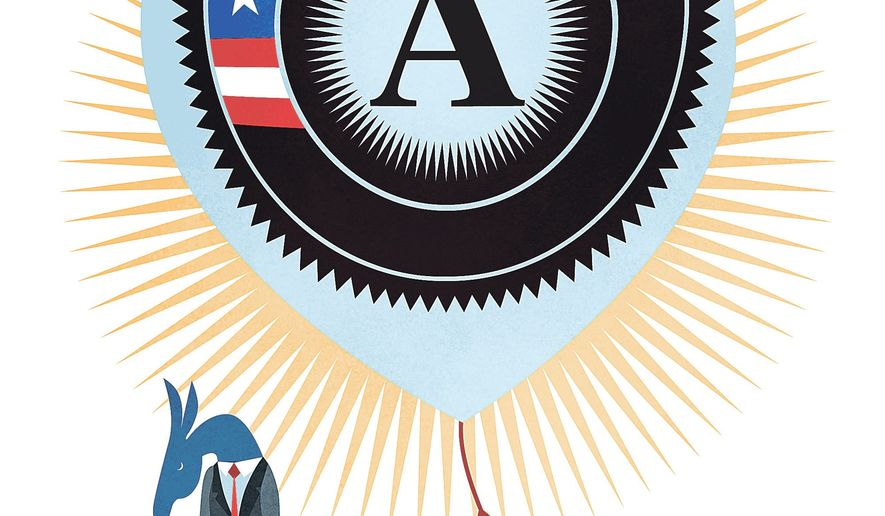 Illustration at the political hyping of AmeriCorps by Linas Garsys/The Washington Times