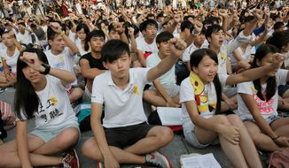 Thousands of Hong Kong students boycotted classes Monday to protest Beijing's decision to restrict electoral reforms. The protesters plan a weeklong strike, marking the latest phase in the battle for democracy in the Chinese city-state. (Associated Press)