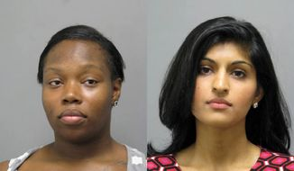 Theresa Brown (left) and Nadia Choudhry (right) have been charged in connection with an incident in which police say a 13-month-old was bitten at a Woodbridge preschool (Photo courtesy of Prince William County Police Department)