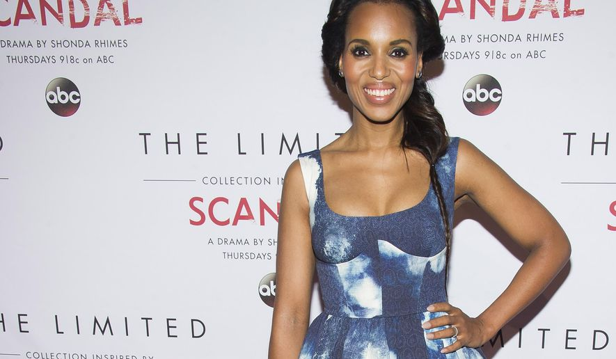 Kerry Washington attends The Limited Collection Inspired by Scandal launch party on Monday, Sept. 22, 2014 in New York. (Photo by Charles Sykes/Invision/AP)